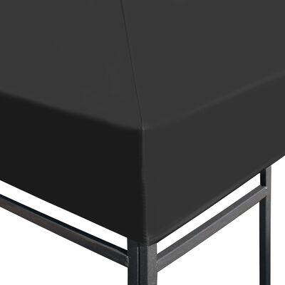 vidaXL Huvimajan katto 310 g/m² 4x3 m harmaa