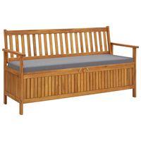 vidaXL Garden Storage Bench with Cushion 148 cm Solid Acacia Wood