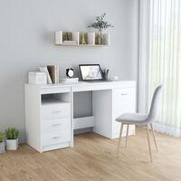 vidaXL Työpöytä valkoinen 140x50x76 cm lastulevy