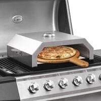vidaXL Pizzauuni keraamisella kivellä kaasu tai hiiligrilliin