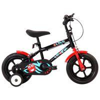 """vidaXL Lasten pyörä 12"""" musta ja punainen"""