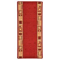 vidaXL Käytävämatto geelipohja punainen 67x200 cm