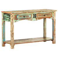 vidaXL Sivupöytä 120x40x75 cm kierrätetty puu
