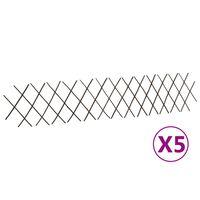 vidaXL Pajusäleikköaidat 5 kpl 180x30 cm