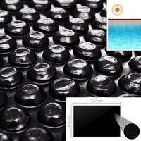vidaXL Uima-altaan suoja musta 732x366 cm PE