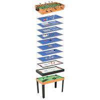 vidaXL 15-in-1 monen pelin pöytä 121x61x82 cm vaahtera