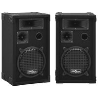 vidaXL Passiiviset Hi-Fi-lavakaiuttimet 2 kpl 800 W musta