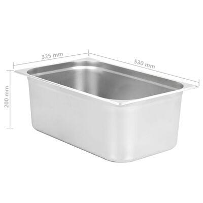vidaXL Ruokavuoat 2 kpl GN 1/1 200 mm ruostumaton teräs