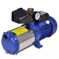Vesipumppu Mittarilla 1300 W 5100 L/t Sininen