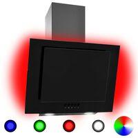 vidaXL Liesituuletin RGB 60 cm ruostumaton teräs ja karkaistu lasi