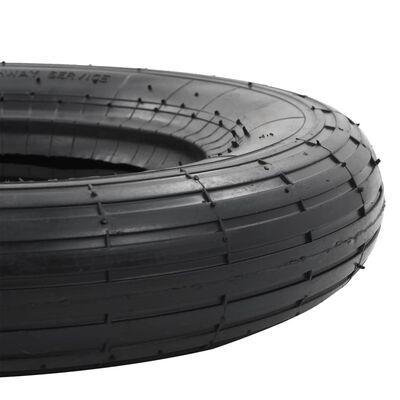 vidaXL Kottikärryn rengas- ja sisäkumisarja 3.50-8 4PR kumi