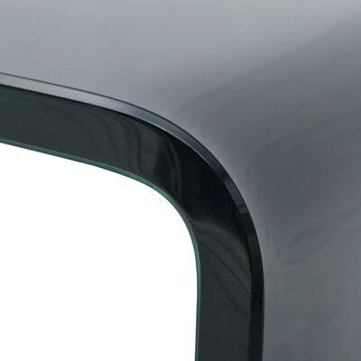 vidaXL TV-taso/Näyttöteline Musta lasi 60x25x11 cm