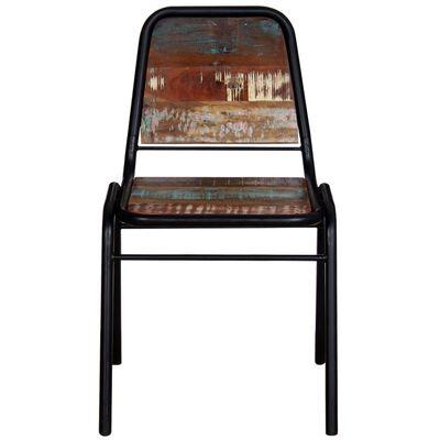 vidaXL Ruokapöydän tuolit 2 kpl täysi uusiokäytetty puu