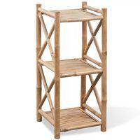 3-kerroksinen Neliö Bambuhylly