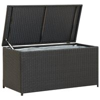 vidaXL Puutarhan säilytyslaatikko polyrottinki 100x50x50 cm musta
