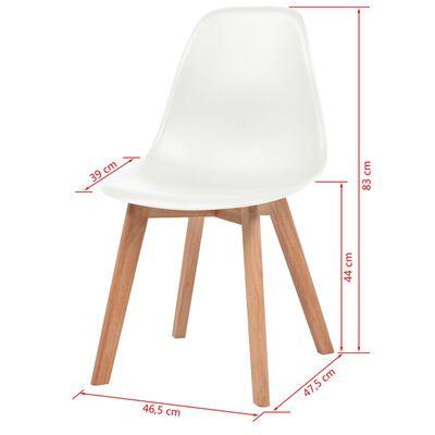 vidaXL Ruokapöydän tuolit 2 kpl valkoinen muovi