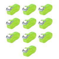 vidaXL Kuormaliinat 10 kpl 0,25 tonnia 5mx25mm Fluoresoiva vihreä