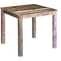 vidaXL Ruokapöytä kierrätetty massiivipuu 80x82x76 cm
