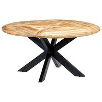 vidaXL Ruokapöytä pyöreä 150x76 cm mangopuu