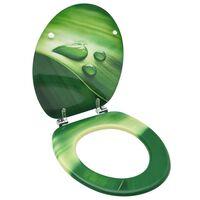 vidaXL WC-istuin kannella MDF vihreä vesipisarakuosi