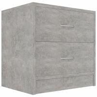vidaXL Yöpöytä betoninharmaa 40x30x40 cm lastulevy