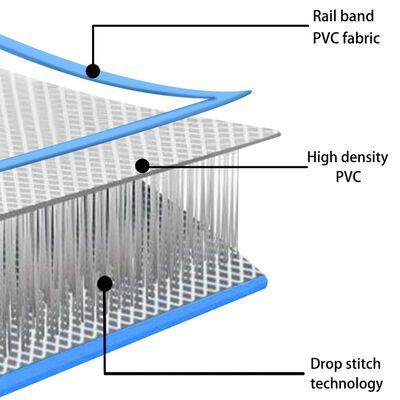 vidaXL Täytettävä voimistelumatto pumpulla 500x100x15 cm PVC sininen