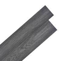 vidaXL Itsekiinnittyvä PVC Lattialankku 5,02 m² 2 mm Musta ja Valkoinen