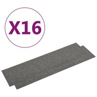 vidaXL Tekstiililaatat 16 kpl 4 m² 25x100 cm harmaa
