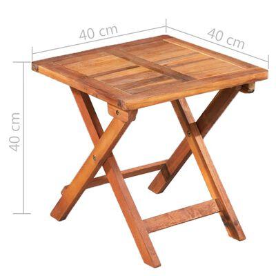 vidaXL Aurinkotuolit 2 kpl + pöytä polyrottinki ja täysi akaasiapuu