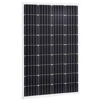 vidaXL Aurinkopaneeli 120 W yksikiteinen alumiini ja turvalasi