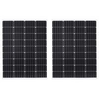 vidaXL Aurinkopaneelit 2kpl 100 W yksikiteinen alumiini ja turvalasi