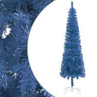 vidaXL Ohut joulukuusi sininen 210 cm