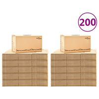 vidaXL Muuttolaatikot pahvi XXL 200 kpl 60x33x34 cm