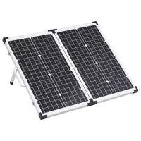 vidaXL Kokoontaitettava aurinkopaneeli kotelolla 60 W 12 V