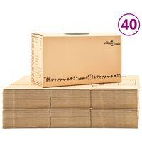 vidaXL Muuttolaatikot pahvi XXL 40 kpl 60x33x34 cm