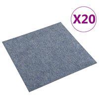 vidaXL Tekstiililaatta 20 kpl 5 m² sininen