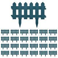vidaXL Nurmikonreunukset 25 kpl vihreä 10 m PP