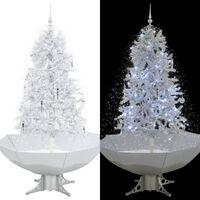 vidaXL Lunta satava joulukuusi sateenvarjopohjalla valkoinen 170 cm