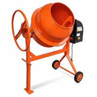 Teräksinen Betonimylly 140 L 650 W Oranssi