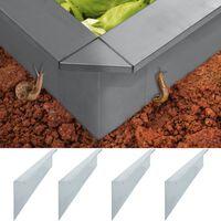 vidaXL Etana-aitalevyt 4 kpl galvanoitu teräs 50x7x25 cm 0,7 mm