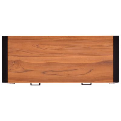 vidaXL Kirjoituspöytä 2 vetolaatikolla 100x40x75cm kierrätetty tiikki