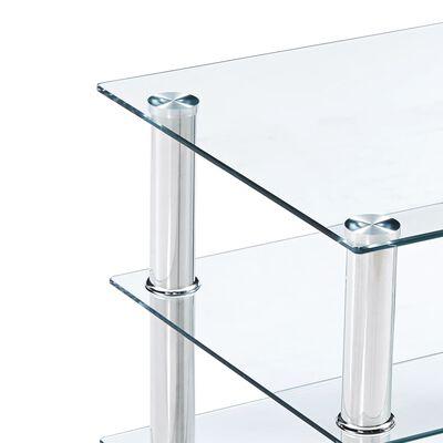 vidaXL TV-taso läpinäkyvä 150x40x40 cm karkaistu lasi