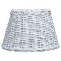 vidaXL Lampunvarjostin paju 50x30 cm valkoinen