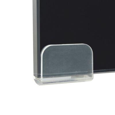 vidaXL TV-taso/Näyttöteline Musta lasi 90x30x13 cm