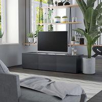 vidaXL TV-taso harmaa 120x34x30 cm lastulevy