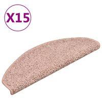 vidaXL Porrasmatot 15 kpl vaalea pinkki 65x21x4 cm