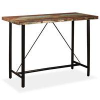 vidaXL Baaripöytä kierrätetty puu 150x70x107 cm
