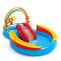 Intex Täytettävä uima-allas Rainbow Ring Play Center 297x193 x135 cm