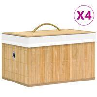 vidaXL Säilytyslaatikot bambu 4 kpl