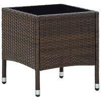 vidaXL Puutarhapöytä ruskea 40x40x45 cm polyrottinki